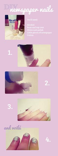 DIY – Newspaper nails